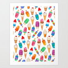 Summer Pops and Ice Cream Dreams Art Print