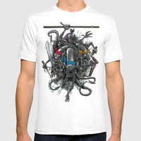 Ancient Ninja Xenomorphs Mens Fitted Tee White SMALL