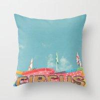 Circus Lights Throw Pillow