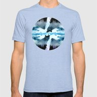 Two Worlds One Heart Mens Fitted Tee Tri-Blue SMALL