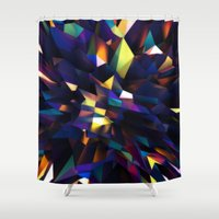 Low Iris Poly Shower Curtain