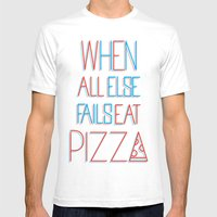 Backup Plan: Pizza Mens Fitted Tee White SMALL