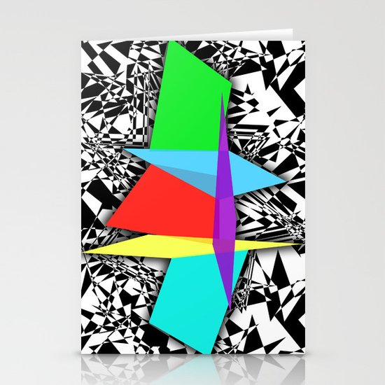 Color Sculpture Stationery Card