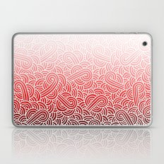 Ombre red and white swirls doodles Laptop & iPad Skin