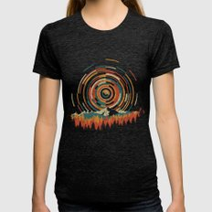 The Geometry Of Sunrise Womens Fitted Tee Tri-Black LARGE