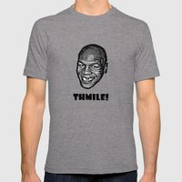 MIKE TYSON     THMILE! Mens Fitted Tee Tri-Grey SMALL