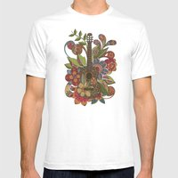 Ever Guitar Mens Fitted Tee White SMALL