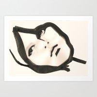 Ink Face Art Print