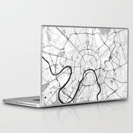 Moscow Map Gray Laptop & iPad Skin