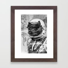 Space Kitten Framed Art Print