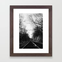 The Rail Framed Art Print