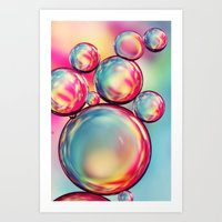 Rainbow Oil Drops II Art Print