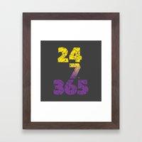 24-7/365 (Purple hustle) Framed Art Print