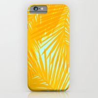 iPhone & iPod Case featuring Palms Tangerine & Blue by Caitlin Workman
