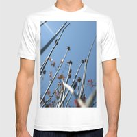 Skyscrapers Reach Mens Fitted Tee White SMALL