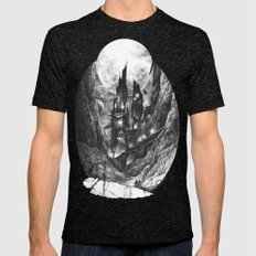City in the far future Mens Fitted Tee Tri-Black SMALL