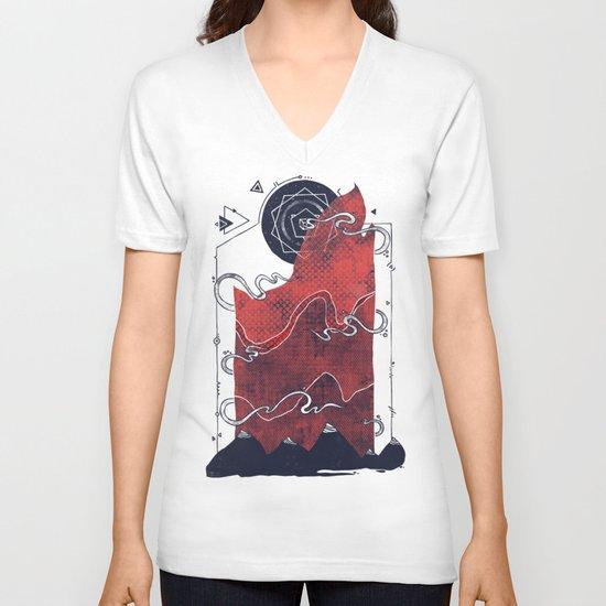 Northern Nightsky V-neck T-shirt