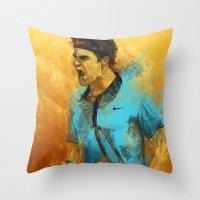 Roger Federer Throw Pillow
