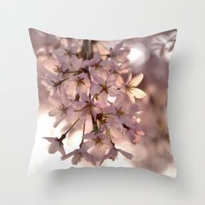 Cherry Blossom Spring Throw Pillow