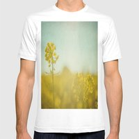 Spring Sun Mens Fitted Tee White SMALL