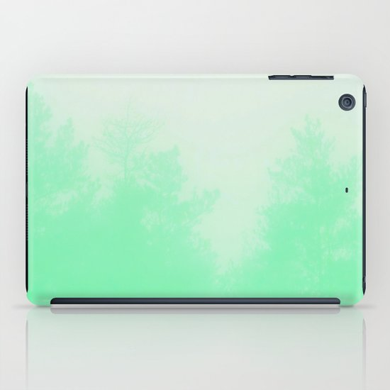 Out of focus - cool green iPad Case