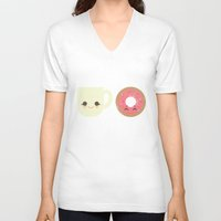 Coffee and Donut Buds Unisex V-Neck