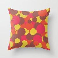 Autumn Retro Circles Des… Throw Pillow