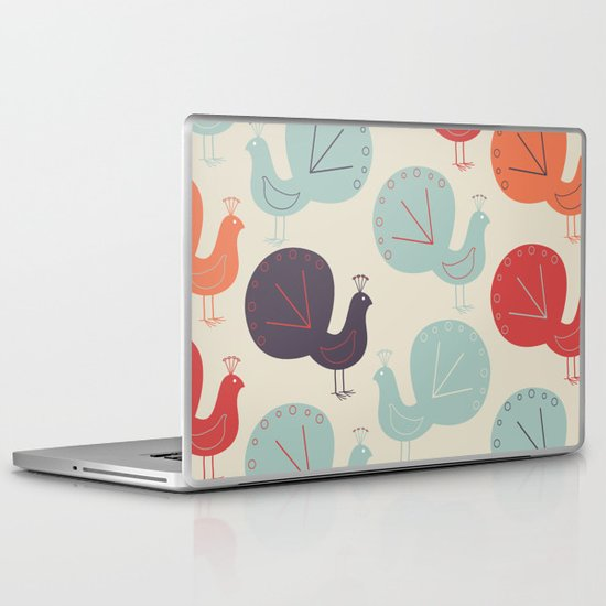 Peacock Pattern Laptop & iPad Skin