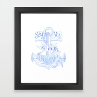 Say Yes To New Adventures Art Print Framed Art Print