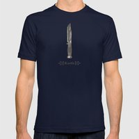 Knife Mens Fitted Tee Navy SMALL