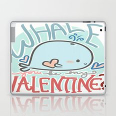 Whale You Be My Valentine Laptop & iPad Skin