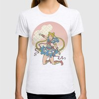 Samurai Moon Womens Fitted Tee Ash Grey SMALL