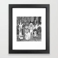 Fox Family Framed Art Print