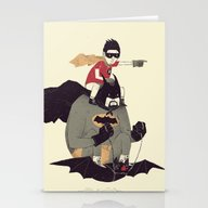 To The Batmobile! Stationery Cards
