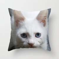 Turkısh Van Cat Throw Pillow