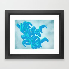 What I Hear Framed Art Print