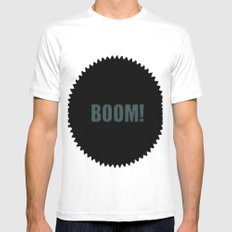 Boom Mens Fitted Tee White SMALL