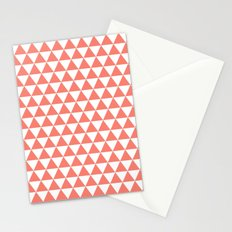 Triangles (Salmon/White) Stationery Cards