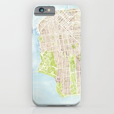 San Francisco CA City Map  iPhone 6 Slim Case