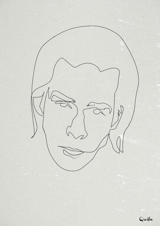 One line Nick Cave Art Print