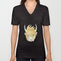 Yakety Yak Striped Illus… Unisex V-Neck