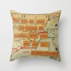 John Wooden Quote Throw Pillow