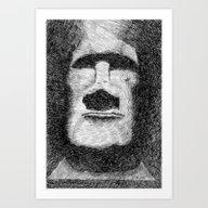 Easter Island - Moai Sta… Art Print