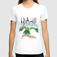 Idaho Womens Fitted Tee White SMALL