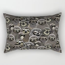 Rectangular Pillow - Social Sloths - Huebucket