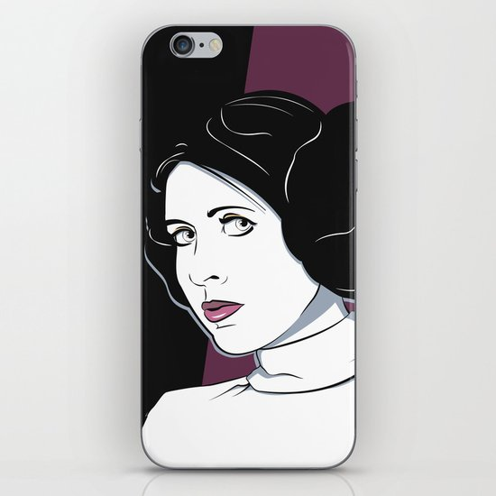 Princess Leia Pop Art iPhone & iPod Skin