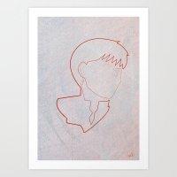 One line Akira: Kaneda Art Print