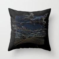 Pixelated Road Throw Pillow