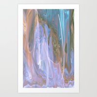 ANGELS PLAYING IN HEAVENS WATERFALL Art Print