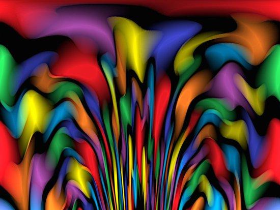 Rainbow Fountain  Art Print